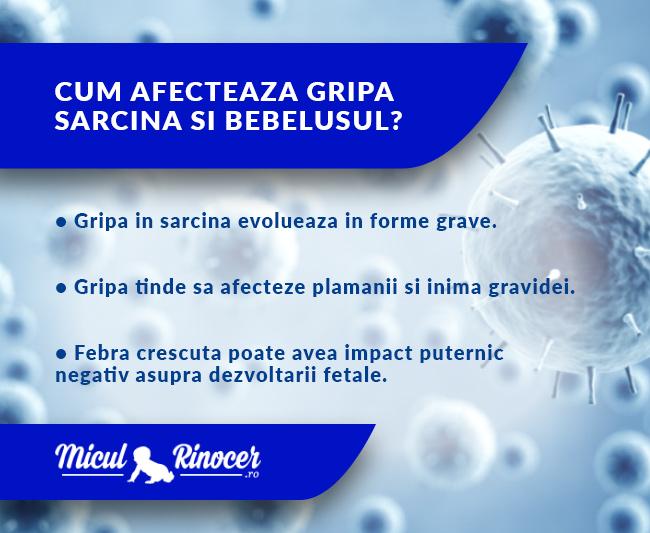 MiculRinocer.ro iti explica cum afecteaza gripa sarcina si bebelusul