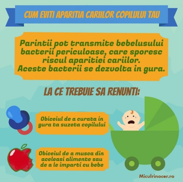 Cum eviti aparitia cariilor copilului tau; dinti de lapte; demineralizarea dintilor de lapte; carii copii; carie biberon; preventia cariilor