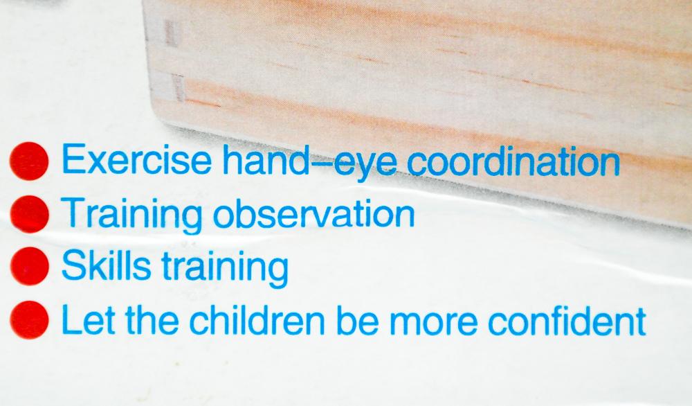 beneficiile inscriptionate si pe cutie - Joc Krista Montessori Clasificarea 88 piese