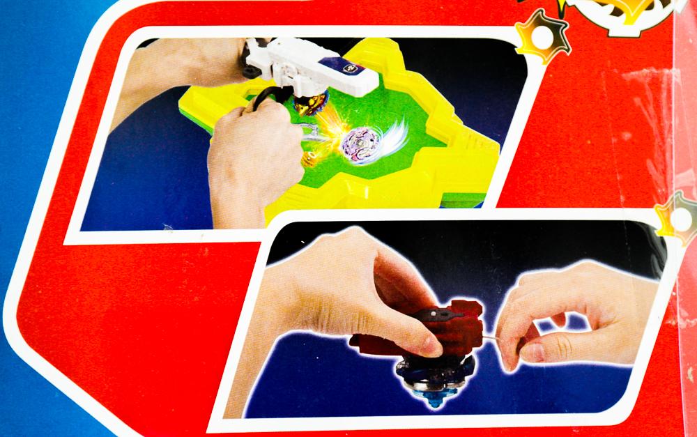 Pictograme care te ajuta sa utilizezi un titirez Beyblade Battle Series