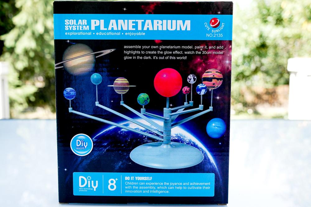 Planetariu Perfect Products sistemul solar 3D - asa arata cutia la livrare