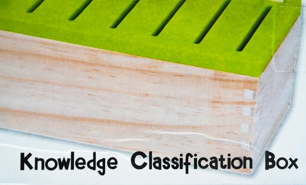 Joc Krista Montessori Clasificarea 88 piese - ce scrie pe cutie