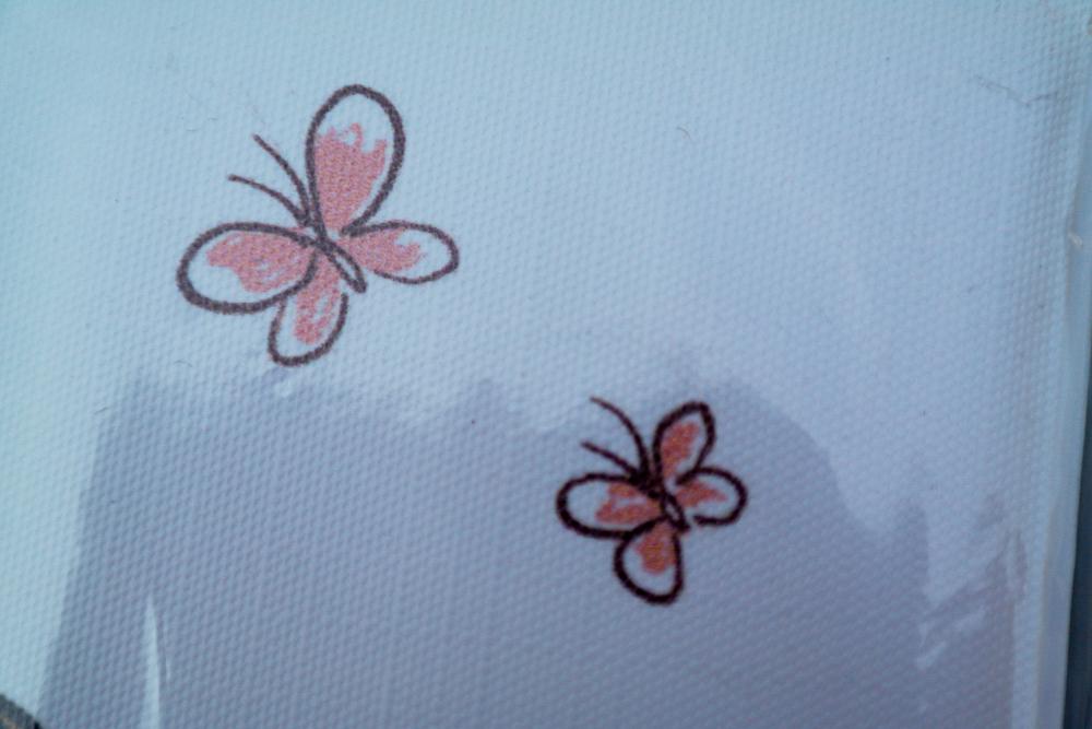 saltea de infasat pliabila Ceba Baby Balerina - imprimeu detaliu fluturi