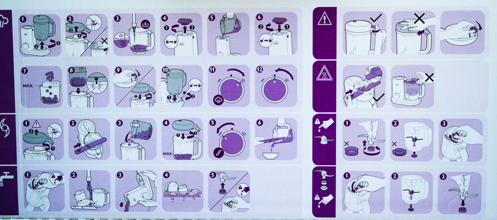 aparat de gatit cu aburi Philips Avent Essential SCF86202 - instructiuni de folosinta